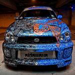 Sideways AutoSalon and Cindy Raschke make this awesome Subaru.