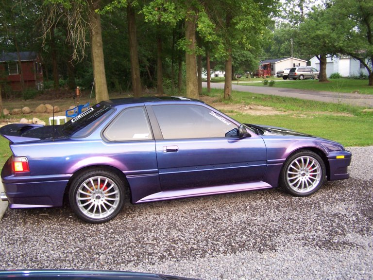 This Honda was painted using our Blue Purple flip paint Colorshift Pearls  pigment.