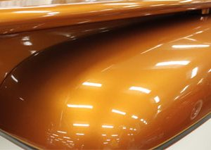 Orange Copper Color Pearls on Hood.