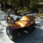 Colorshift Pearls 4739OR. Orange Gold Red sprayed on a Trike.