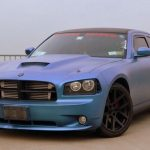 Queenz Dipped Charger in ColorShift Pearls Blue to Purple. Matte Finish Custom Paint job.