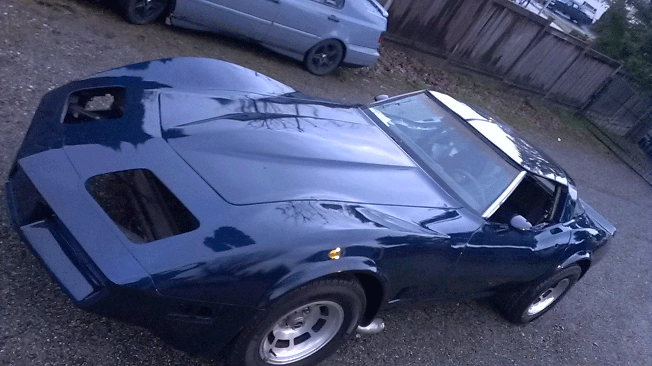 Pearl blue car paint colors - Corvette Painted With Electric Blue Pearl Over Black Base