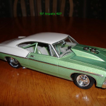 Apple Green Candy Pearl and Silver Crystal used on model Impala.