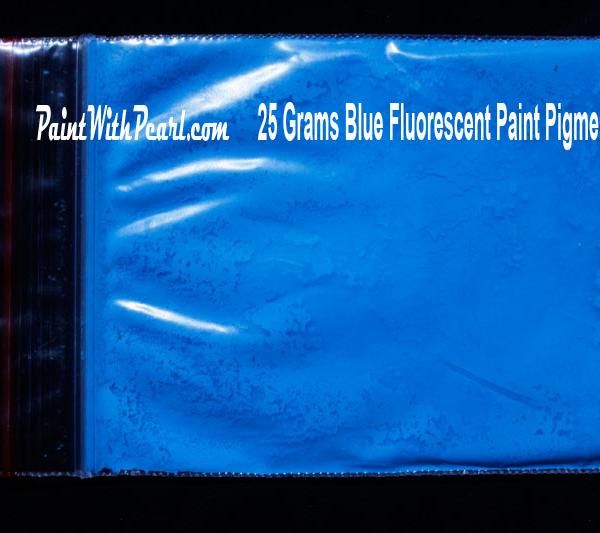 25 gram bag of blue-fluorescent-paint-pigment