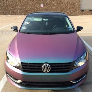4739RG VW Painted By Eclipse Auto Salon with our Red Blue Green ColorShift Pearls.