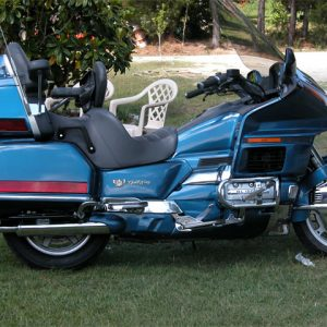 Electric Blue Honda Goldwing as Seen on our Testimonials.
