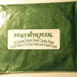 25 Gram Bag of Forest Green Color Pearls ®.