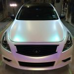 Ghost Colorshift Pearls  on White infinity. 4759RBP Red Blue Purple