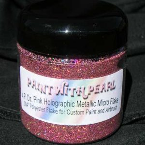 Pink Holographic Metal Flake