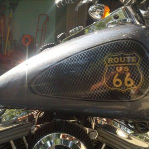 Route 66 Harley. This Bike Painted with a variety of our products, including Illusion Pearls, flakes, and Color Pearls.