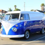 Royal Blue Color Pearls VW Micro Bus Van.