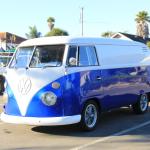 Royal Blue Color Pearls VW Micro Bus Van.