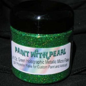 4 oz Jar Green Holographic Metal Flake