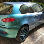4779 Blue Green Purple super flash Colorshift Pearls  on an Alfa Romeo