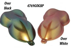 Gold Orange Green Blue Purple ColorShift Pearls for Custom Paint and Powder coatings.