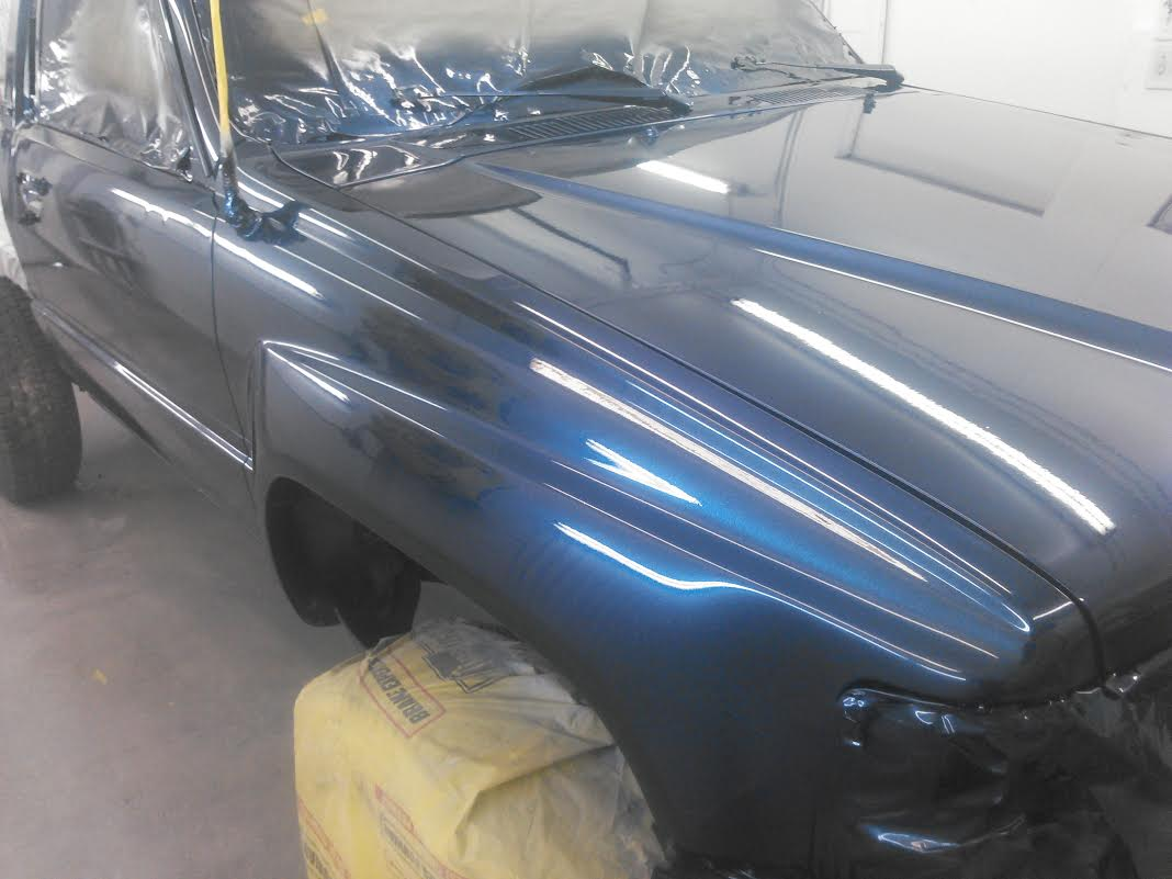 Blue Crystal Pearl On Truck From A Few Feet Away Prepping Your Existing Paint Is