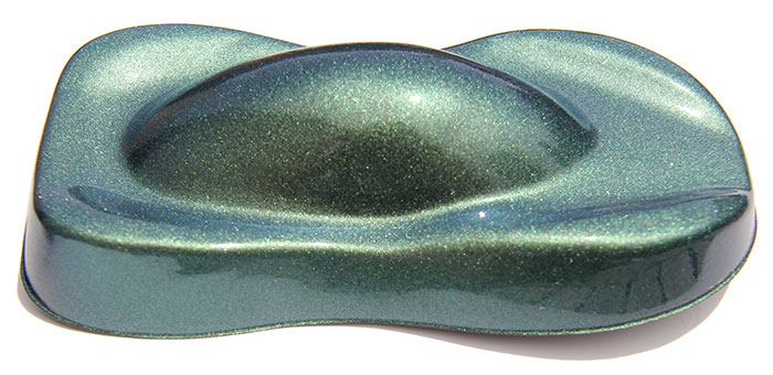 Yellow Gold Green Indigo ColorShift Pearls for custom paint and other coatings.