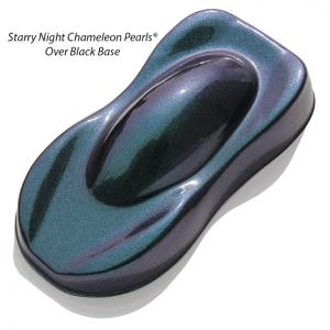 Starry Night Custom Paint Teal Blue Purple super dark midnight chameleon over a black base coat.