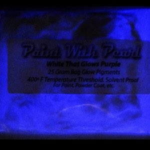White to Purple Glow In The Dark Paint Pigments - Long Lasting Glow